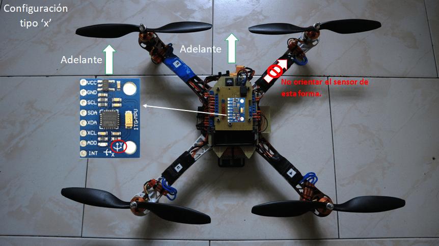 MPU6050 colocación en el drone Arduino