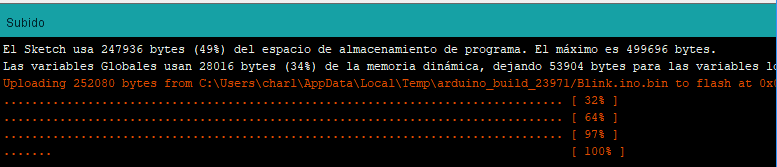 Cargando software en ESP8266-01 Arduino