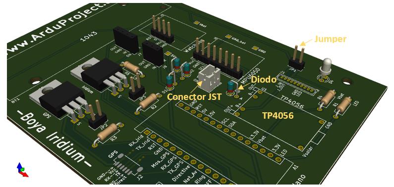 Boya Iridium con Arduino | Etapa de entrada, PCB