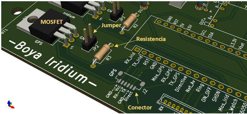 Boya Iridium con Arduino | GPS en el PCB inferior