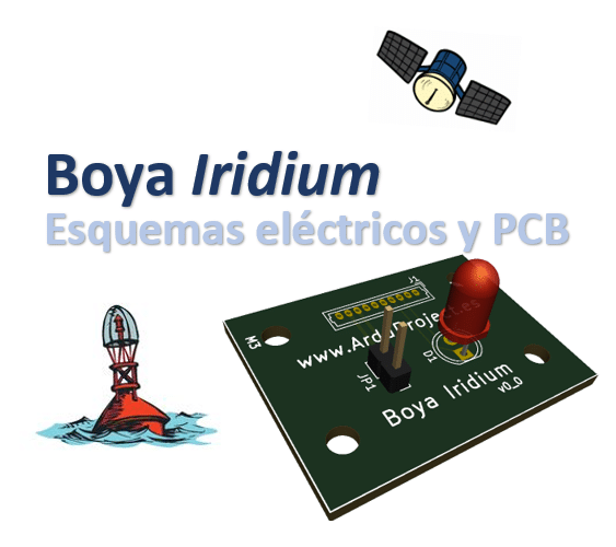Boya Iridium con Arduino y GPS | Diseño electrónica (esquemas y PCB)