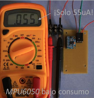 Tutorial MPU6050 ultra bajo consumo (50uA) con Arduino