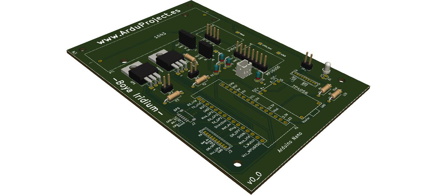 Boya Iridium con Arduino | PCB inferior