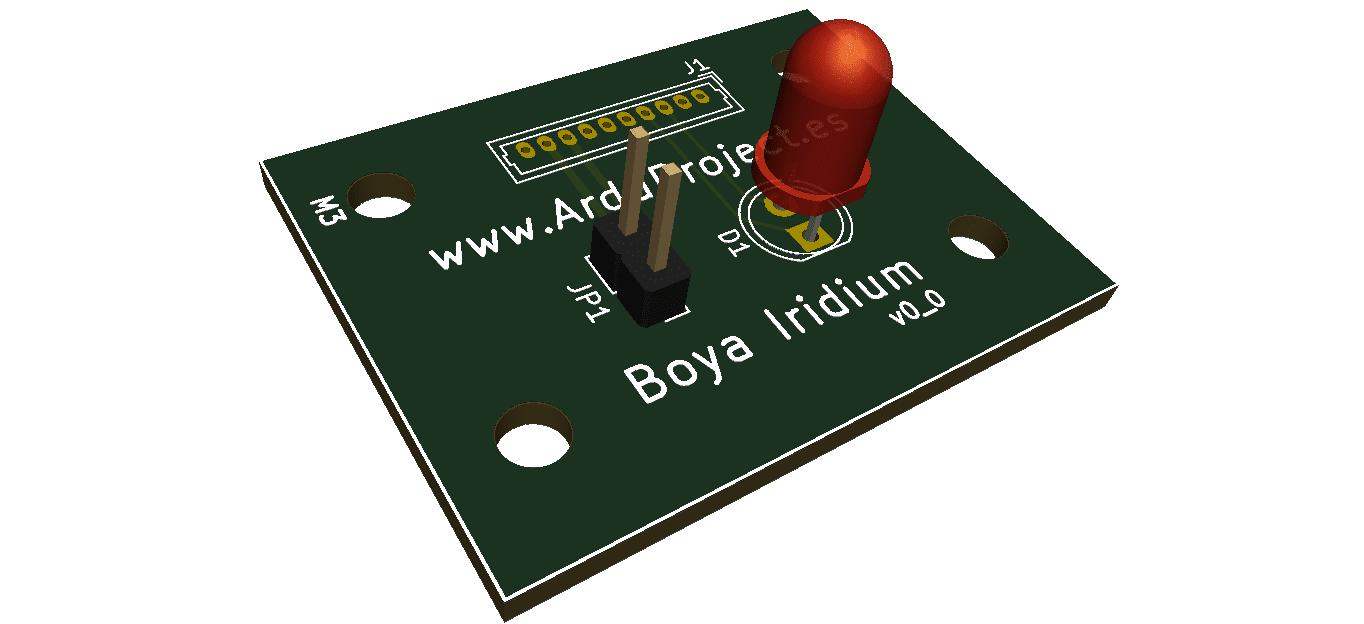 Boya Iridium con Arduino | PCB superior