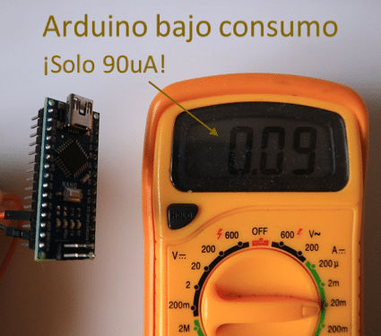 Tutorial Arduino ultra bajo consumo (90uA)