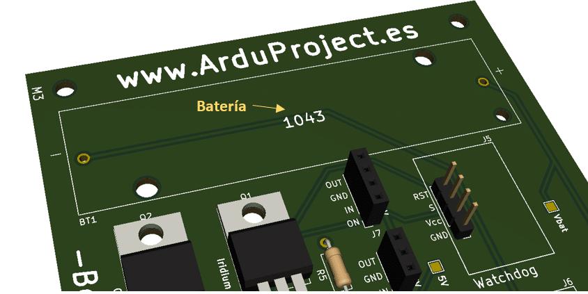 Boya Iridium con Arduino | Batería, PCB