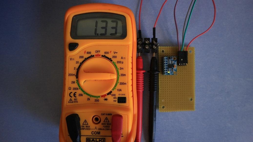 Consumo MPU6050 bajo consumo, con LED