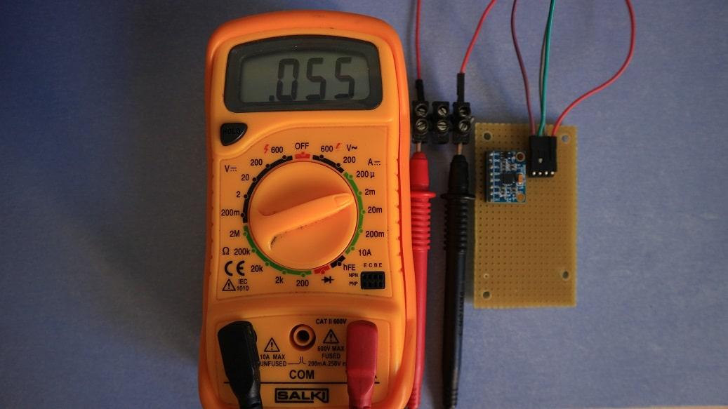 Consumo MPU6050 bajo consumo, sin LED
