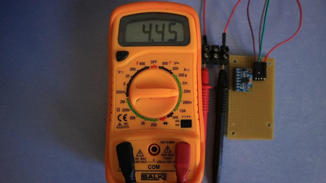 Consumo MPU6050 activo, sin LED