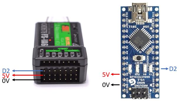 Conexión receptor con Arduino PPM